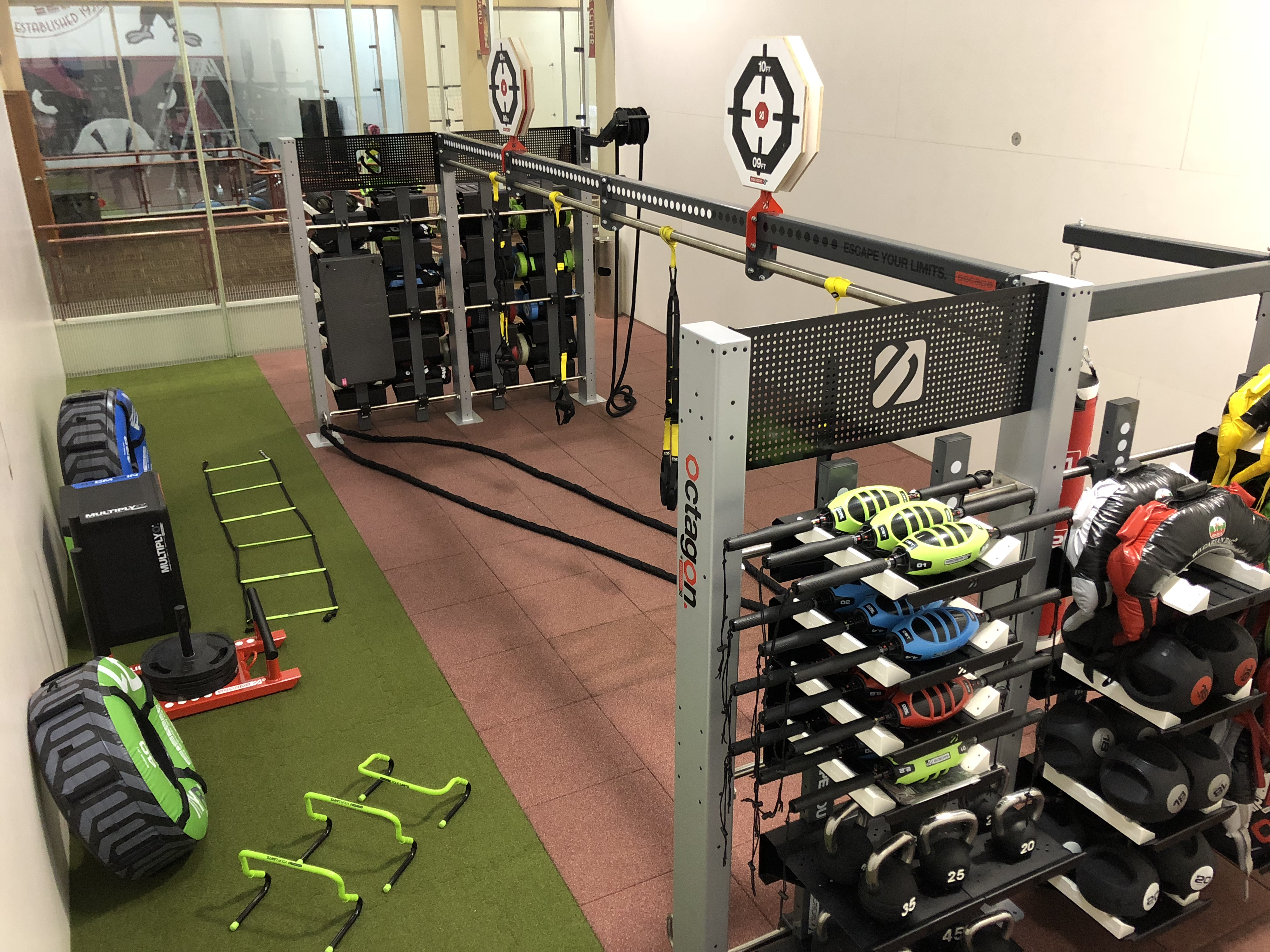 Fitness center exercise facility weight room